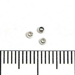 Slät skarvlös silverpärla 1,8 mm hål 0,9 mm sterling silver