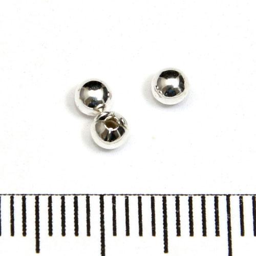 Slät halvborrad silverkula 3 mm sterling silver