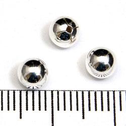 Slät halvborrad silverkula 5 mm sterling silver