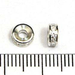 Strassrondell med cubic zirconer 6 mm sterling silver