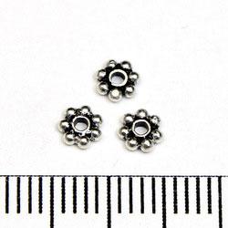 Balipärla daisy 4 mm sterling silver