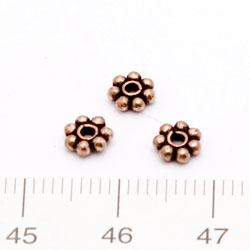 Balipärla daisy 5 mm solid koppar