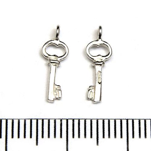 Berlock nyckel 14 mm sterling silver - Utgående vara