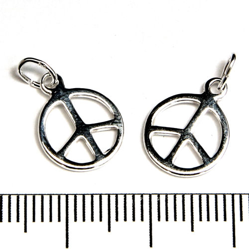 Berlock peacemärke 10 mm sterling silver
