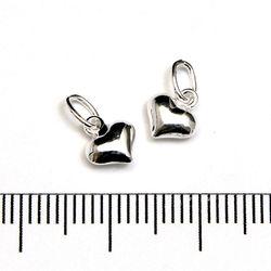 Berlock hjärta 6 x 5 mm sterling silver