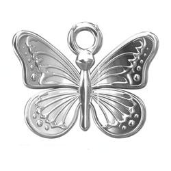 Berlock fjäril 11 mm sterling silver