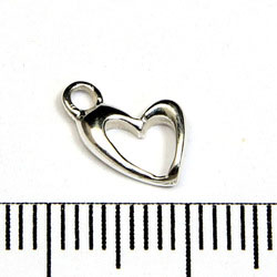 Berlock hjärta 8 mm sterling silver