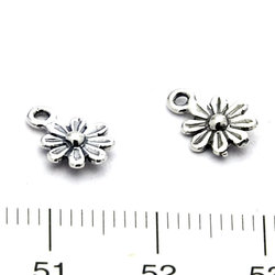 Berlock blomma 7 mm sterling silver