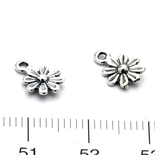 Berlock blomma 7 mm sterling silver