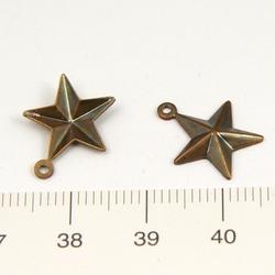 Hänge stjärna 13 mm Vintaj mässing - Utgående vara