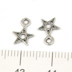 Berlock pentagram 7 mm sterling silver