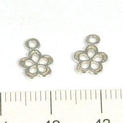 Berlock blomma 7 mm sterling silver - Utgående vara