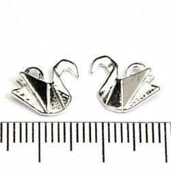 Berlock origami-svan 10 mm sterling silver