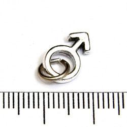 Berlock manssymbol sterling silver - Utgående vara