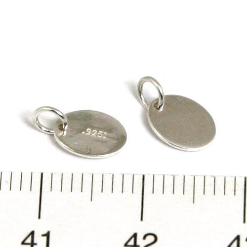 Oval tag med 925-stämpel 7,3 mm x 5,5 mm sterling silver