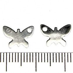 Tag / berlock fjäril 14 x 10 mm sterling silver