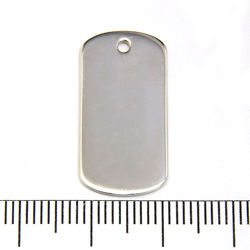 Dogtag 13 x 25 x 1 mm sterling silver