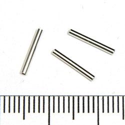 Rakt rör 10 x 1,25 mm sterling silver