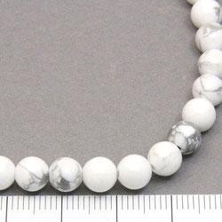 Pärlor i vit howlite 6 mm