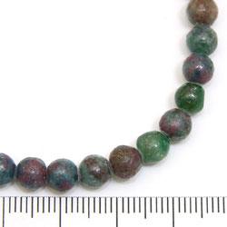 Pärlor i kyanit med rubin 6 mm - Utgående vara