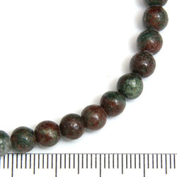Pärlor i rödgrön Kashgar-granat 6 mm - Utgående vara