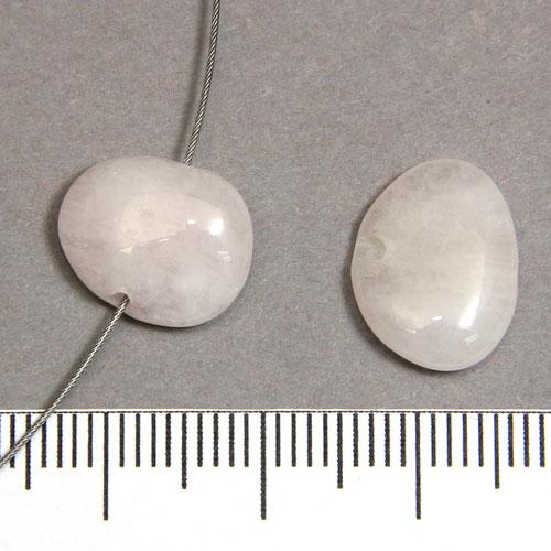 Platt nugget i morganit c:a 8-10 mm - Utgående vara