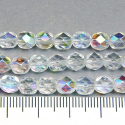 Tjeckiska firepolished 6 mm crystal AB