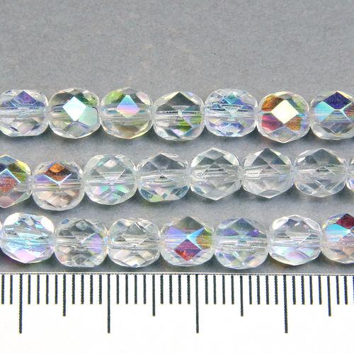 Tjeckiska firepolished 6 mm crystal AB - Utgående vara