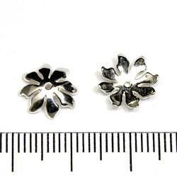 Pärlhatt justerbar blomma/stjärna 11 mm sterling silver