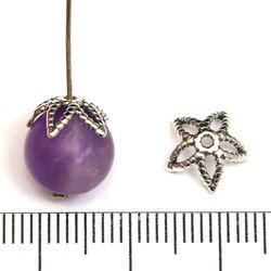 Pärlhatt stjärna 10 mm sterling silver
