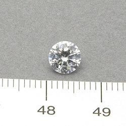 Cubic zircon rund vit 6 mm