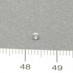 Cubic zircon rund vit 2,0 mm
