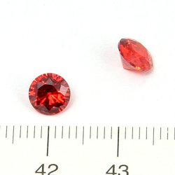 Cubic zircon rund ljusröd 6 mm