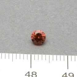 Cubic zircon rund röd 4 mm