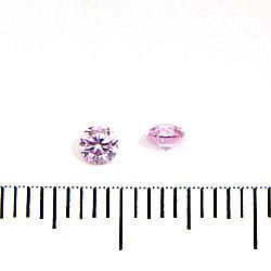 Cubic zircon rund rosa (blåtonad) 3 mm