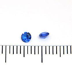 Syntetisk blå spinell 3 mm