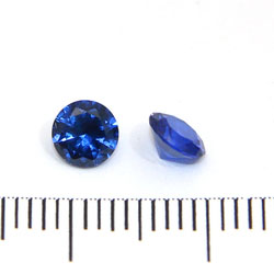 Syntetisk blå spinell 5 mm