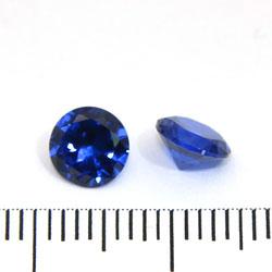 Syntetisk blå spinell 6 mm