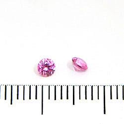 Syntetisk rosa rubin (korund) 3 mm