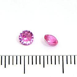 Syntetisk rosa rubin (korund) 4 mm