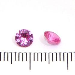 Syntetisk rosa rubin (korund) 5 mm