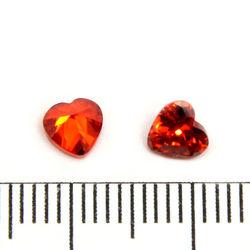 Cubic zircon hjärtformad orangeröd 5 mm
