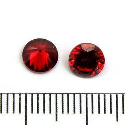 Cubic zircon rund röd 6 mm