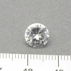 Cubic zircon rund vit 8 mm