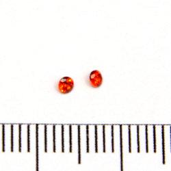 Cubic zircon rund röd 2 mm