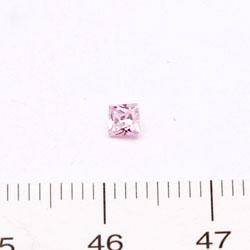 Cubic zircon princessslipad (kvadratisk) rosa 3 mm - Utgående vara