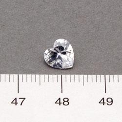 Cubic zircon hjärtformad vit 7 mm vit