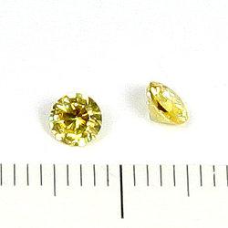 Cubic zircon rund gul 4 mm