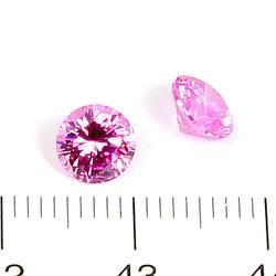 Cubic zircon rund rosa 6 mm