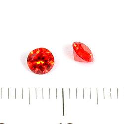 Cubic zircon rund padparadschah (orangeröd) 4 mm